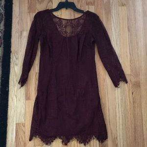 Red fitted lace dress from Nordstrom's